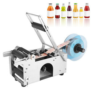 Mt 50 Semi automatic Round Bottle Labeling Machine For 15 120mm Bottles Labeler