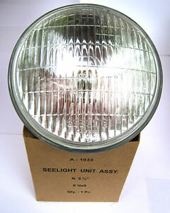 Jeep Willys Mb Dodge Wc52 Seelite Sealed Beam Unit 6v Corcoran Brown
