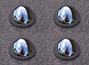 New 5 1 8 Inch Hot Rod Bullet Baby Moon Chrome Wheel Hub Center Caps Set Of 4