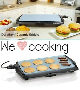 Electric Flat Top Grill Professional Commercial 200 Sq in Ceramic Griddle