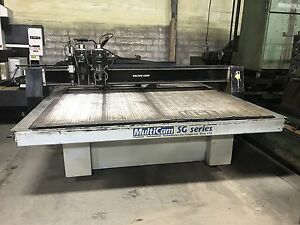 8 X 12 Multicam Sg Series Cnc Router Multi Head Some Tooling