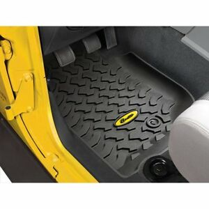 Bestop 51500 01 Floor Mats For 2007 2009 Jeep Wrangler jk Front Row 2 Pieces