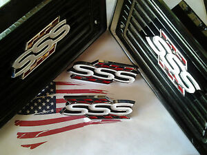 Datsun 510 Bluebird 1600 Sss Side Pilar Vents Emblems New Free Shipping