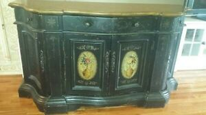 Broyhill Continents French Prov Provincial Buffet Cabinet Bombay Hutch