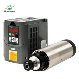 1 5kw Er16 Air cooled Spindle Motor 80mm Four Bearing 1 5kw Inverter Vfd