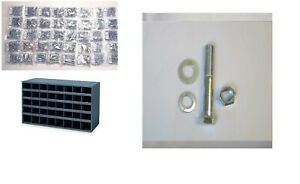 Coarse Stainless Bolt Nut washer And Lock Washer Assortment 2715 Pcs W Bin