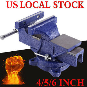 6 Mechanic Bench Vise Table Top Clamp Press Locking Swivel Base Heavy Duty New
