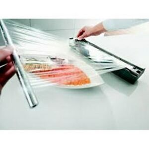 Chef s Commercial grade Food Film Plastic Wrap Clear Cutter Box 18 X 2000