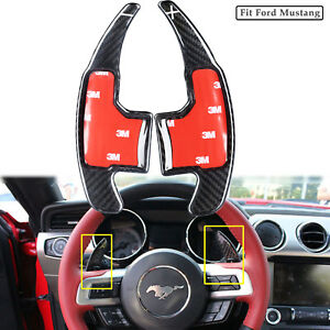 Steering Wheel Paddle Shifter Extension For 15 17 Ford Mustang Carbon Fiber