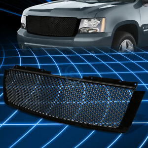 Black Abs Bumper Protect Grille Guard For 2007 2014 Tahoe Avalanche Suburban