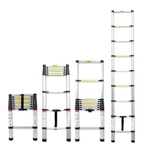 6 5ft 8 5ft 10 5ft Aluminum Multi purpose Telescopic Ladder Extension Loft Steps