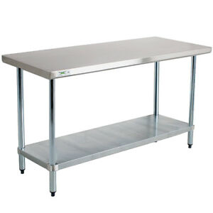 New 30 X 60 Stainless Steel Commercial Kitchen Work Prep Equipment Table