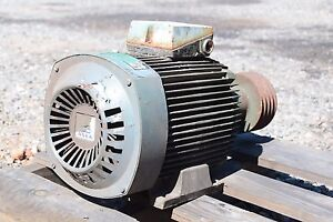 Asea 132 M Frame Electric Motor With Pulley Shaft 7 5 Hp