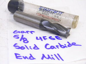 Used Garr 5 8 4flute Single End Solid Carbide Endmill Series 230ma