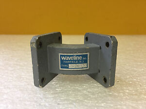 Waveline 7538 2 wr 75 10 To 15 Ghz Cover To Cover 45 Waveguide E plane Bend