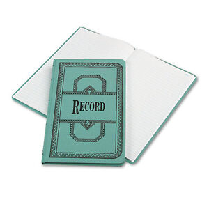 12 Boorum Pease Record account Books Record Rule Blue 150 Pg 12 1 8 X 7 5 8