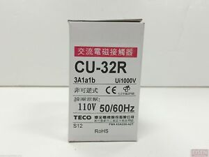 Teco Cu 32r Magnetic Contactor 50 Amp 3 Phase 110v Coil 3a1a1b no And Nc