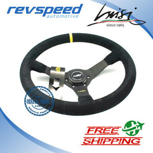 Luisi Italy Racing Mirage Corsa Steering Wheel Black Suede Drift Deep 350mm