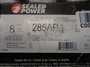 Sealed Power 285ap Pistons Cast Flat Mopar 318 Set Of 8