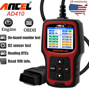 Obd2 Scanner Code Reader Multi language Eobd Engine Diagnostic Tool Ancel Ad410