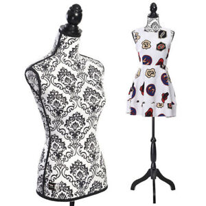 Female Mannequin Body Torso W Black Tripod Stand Designer Dress Form Display