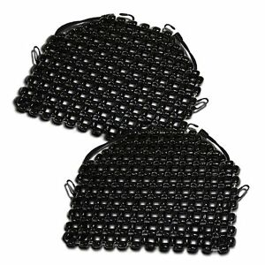 Zento Deals 2pk Beaded Wooden Car Motorcycle Massaging Seat Cover Cushion Pad