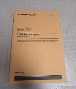 Caterpillar Cat 3208 Truck Engine Turbocharged Parts Catalog Manual 1989 2z40745