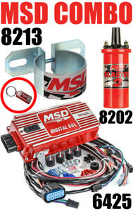 Msd 6al Ignition Kit Digital Box 6425 Blaster 2 Coil 8202 Bracket 8213 In Stock