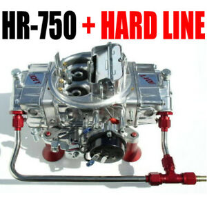 Quick Fuel Hr 750 Technology Hot Rod 750 Cfm Gas Mech Carb With Hard Line Kit