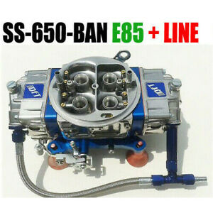 Quick Fuel Ss 650 ban E85 Mech Blow Thru Annular Blue W 6 Fuel Line Kit