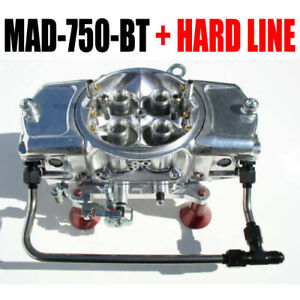 Mighty Demon 750 Cfm Annular Blow Thru Carb Mad 750 bt W 6 Black Hard Line Kit
