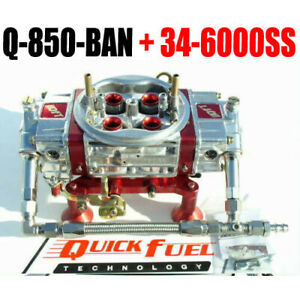 Quick Fuel Q 850 ban Mech Annular Gas Blow Through With 34 6000ss Line Kit