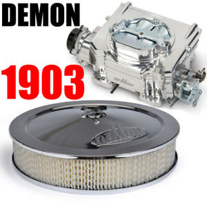 Demon Carburetor 1903 Street Demon 750 Cfm Carburetor Aluminum Finish W Cleaner