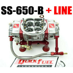 Quick Fuel Ss 650 b 650 Cfm Mech Blow Through Down Leg With 6 Red Line Kit