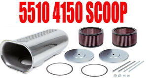 The Blower Shop 5510 4150 Dual Carb Supercharger Scoop With Hardware In Stock