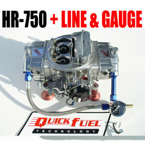 Quick Fuel Hr 750 Technology Hot Rod 750 Cfm Mech Carb With Fuel Kit And Gauge