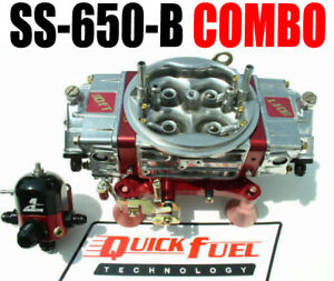 Quick Fuel Ss 650 B 650 Cfm Gas Blow Through Carb Regulator Combo Look All New