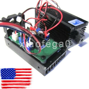 450nm 3500mw 3 5w Blue Laser Module W Ttl Driver Board For Diy Laser Cutter Usa