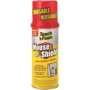6 Pk Touch n Foam White Mouse Shield 12 Oz Foam Sealant Blocker 4001012506