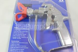 Graco Silver Plus Airless Spray Gun 243283 Includes Guard Tip 2 Finger Trigger