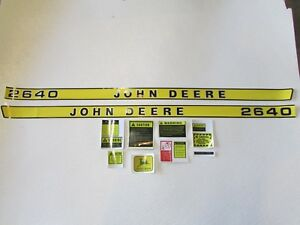 John Deere 2640 Tractor Decal Set With Caution Kit