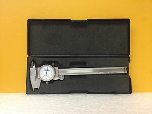 Fowler 0 To 6 Range 0 001 Resolution Double Way Dial Caliper Case Tested