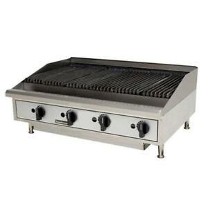 Toastmaster Tmlc48 48 Countertop Lava Rock Gas Charbroiler Grill