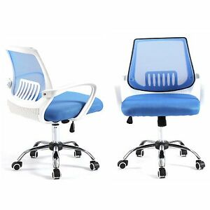 Computer Office Desk Chair Commercial Drafting Task Ergonomic Seat Mesh Blue