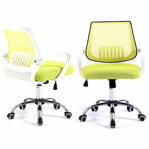 Computer Office Desk Chair Commercial Drafting Task Ergonomic Seat Mesh Green