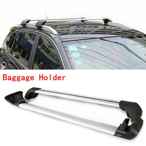 Pair Silver Aluminum Baggage Carrier Top Roof Rack Fit For Ford Explorer 2013 16