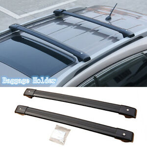 2x Black Aluminum Luggage Carrier Roof Rack Protect For Ford Explorer 2013 2016