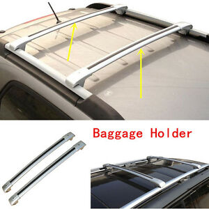 2pc Silver Aluminum Baggage Carrier Roof Rack Refit For Ford Explorer 2013 2016