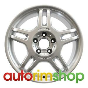 Mercedes C32 17 Factory Oem Amg Front Wheel Rim Silver