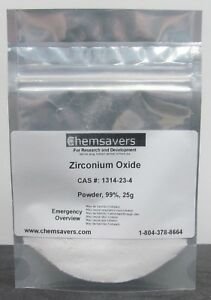 Zirconium Oxide Powder 99 25g